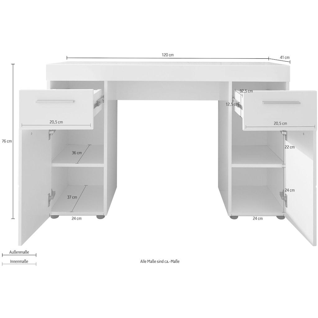 trendteam Schreibtisch »Amanda«, variabel auch als Schminktisch einsetzbar mit dem Spiegel 88435001