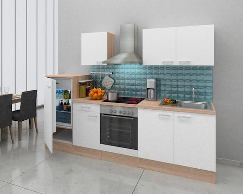 Küchenzeile in Weiß matt