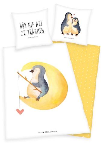 Wendebettwäsche »Mr. & Mrs. Panda«, mit Schriftzug kaufen