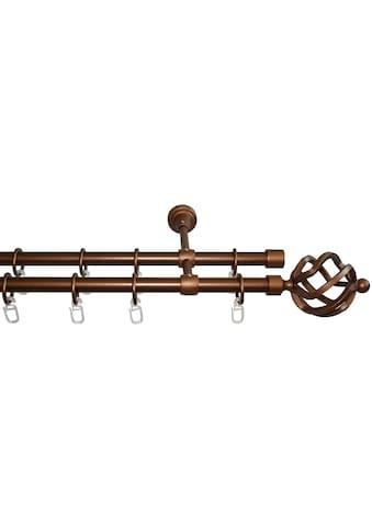 GARESA Gardinenstange »Rustika Korb«, 2 läufig-läufig, Wunschmaßlänge kaufen