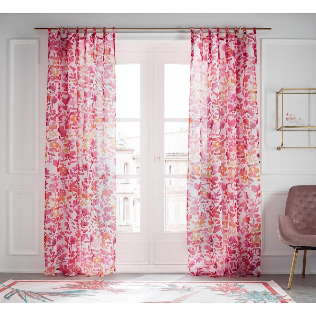 Guido Maria Kretschmer Home&Living Gardine »Love«, transparent, Schlaufen zum Binden, Digitaldruck