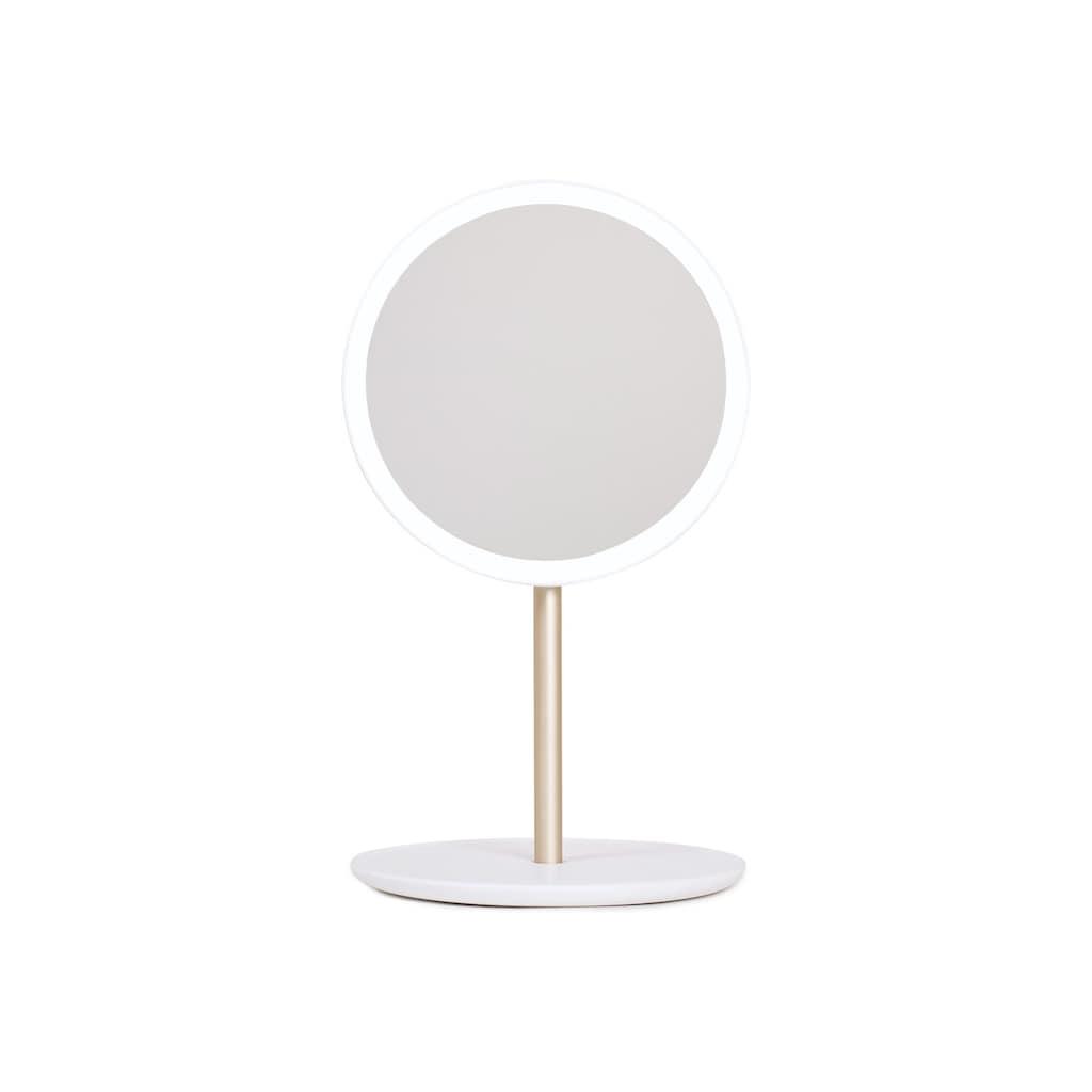 AILORIA Kosmetikspiegel »SPLENDIDE«, (1 St.), tragbare LED-Spiegel (USB)