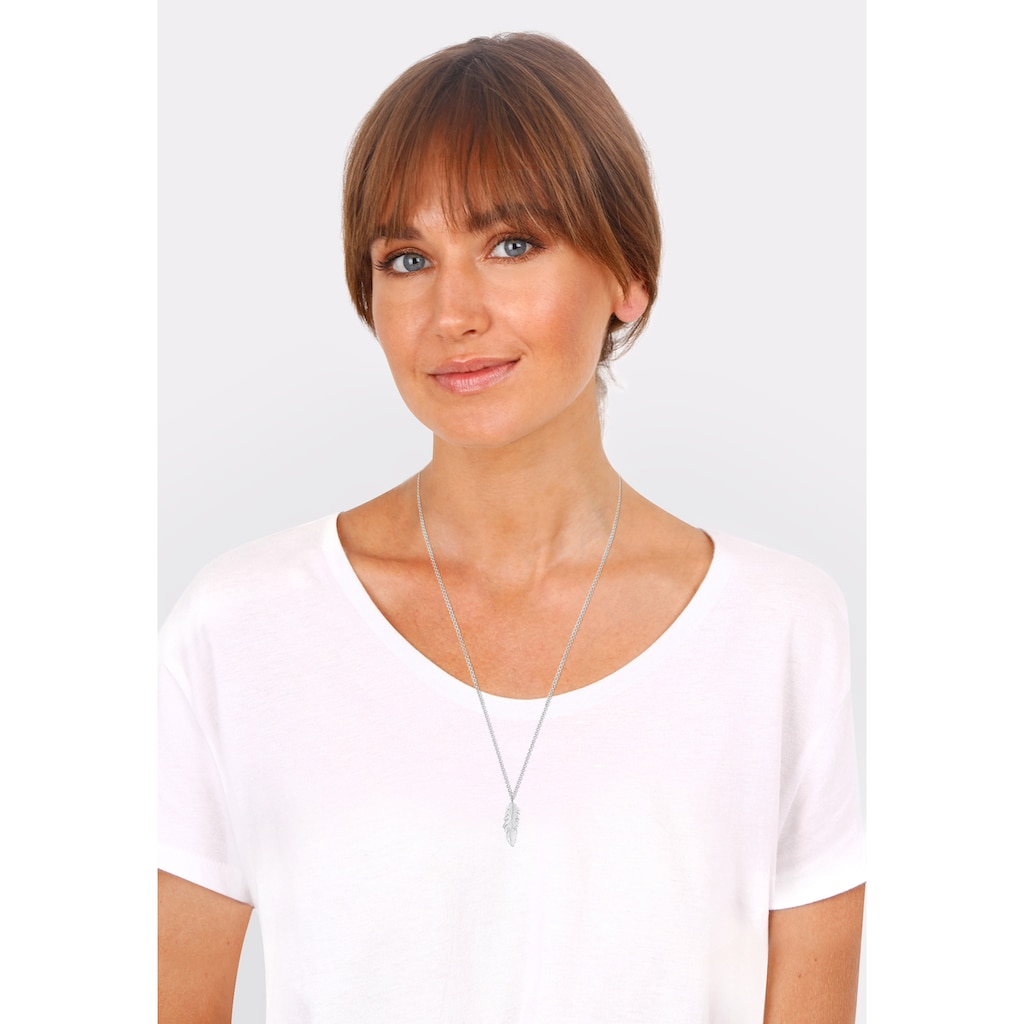 Elli Kette mit Anhänger »Feder Anhänger Engel Gliederkette 925 Silber«