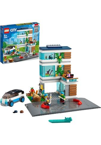 LEGO® Konstruktionsspielsteine »Modernes Familienhaus (60291), LEGO® City Community«,... kaufen