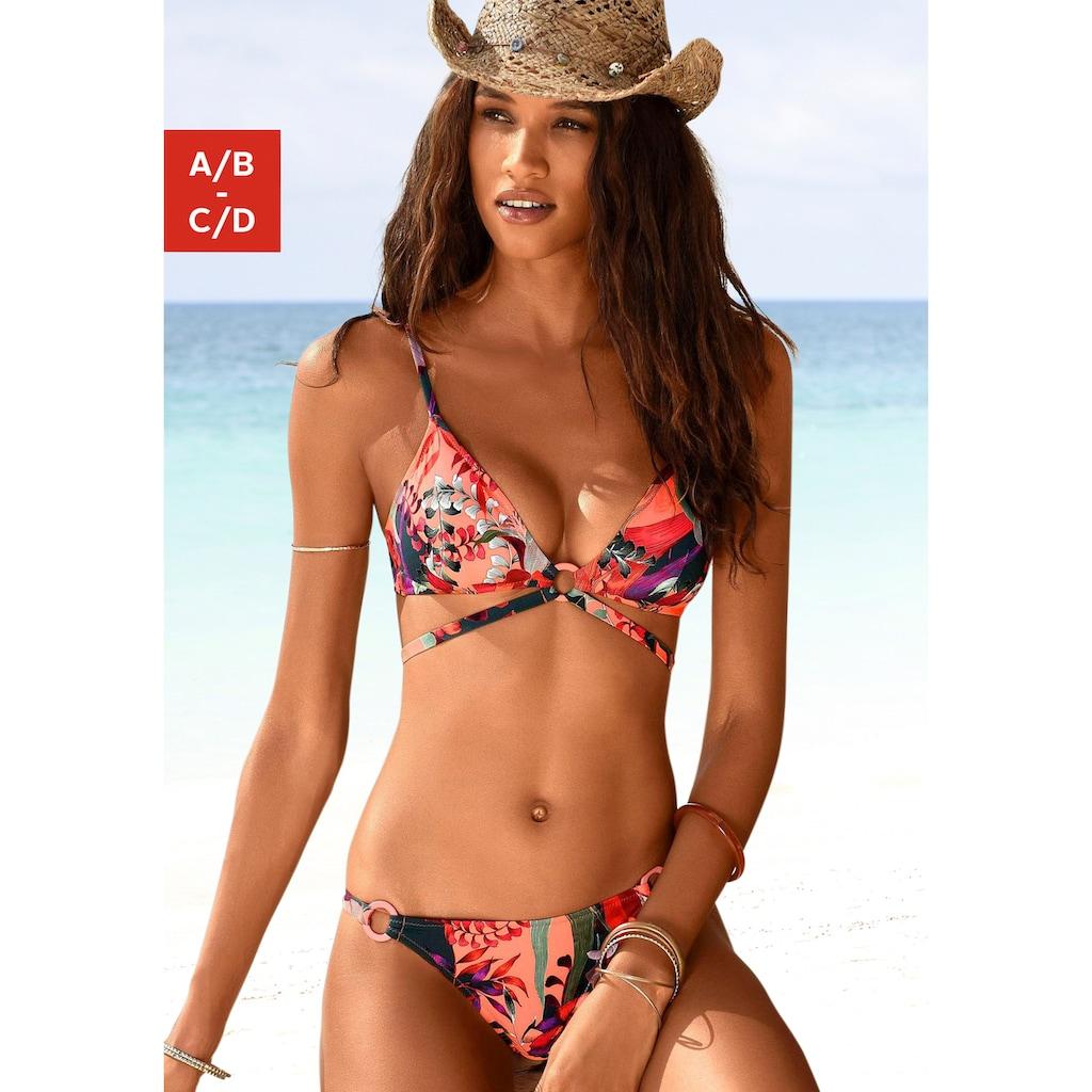 JETTE Triangel-Bikini, mit trendigem Zierbändchen
