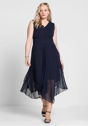 Sheego Abendkleid, mit Plisee-Falten kaufen
