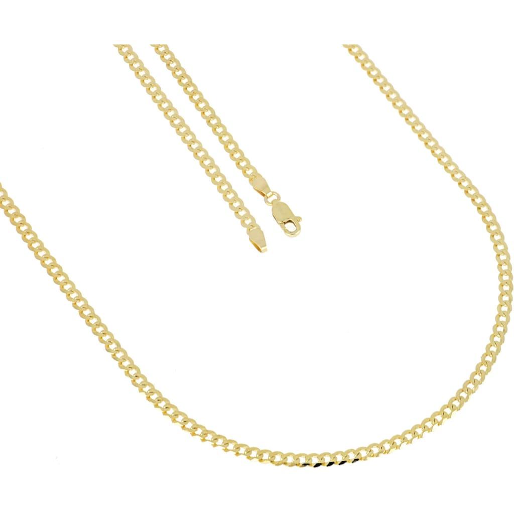 Firetti Goldkette »Collierkettchen in Panzerkettengliederung, 6-fach diamantiert, flach«