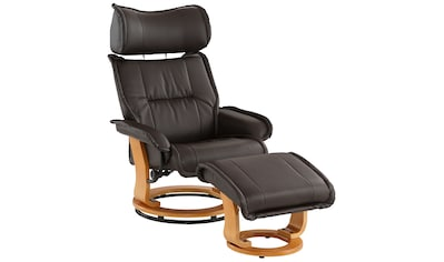Home affaire Relaxsessel »Andorra«, mit einem Drehfuß aus schöner Holzoptik und einem... kaufen