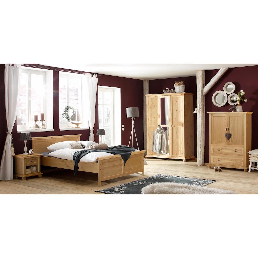 Home affaire Wäscheschrank »Irena«, aus Massivholz, mit zwei Türen und zwei Schubladen, Breite 99 cm