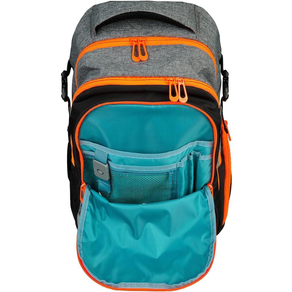 neoxx Schulrucksack »Active, Stay orange«, aus recycelten PET-Flaschen