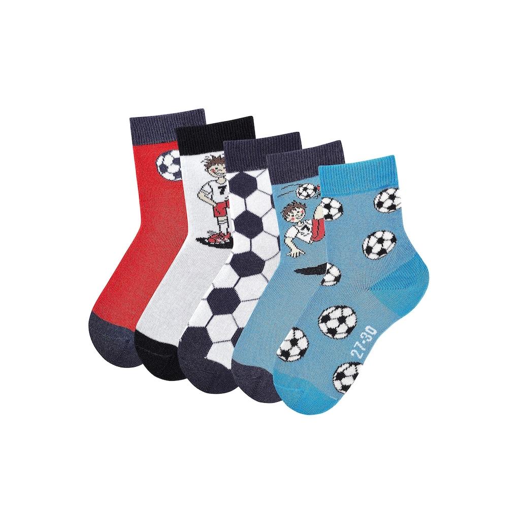 H.I.S Socken, (5 Paar), mit Fußballmotiven