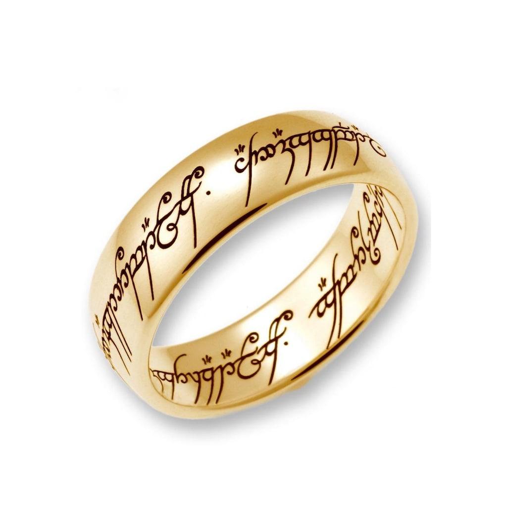 Der Herr der Ringe Goldring »Der Eine Ring - Gold, 10004073, 10004074, 10004075«, Made in Germany