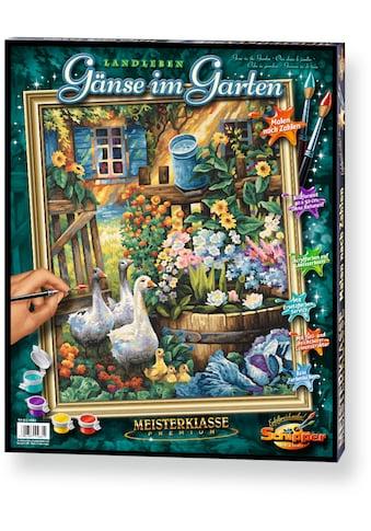 Schipper Malen nach Zahlen »Meisterklasse Premium Gänse im Garten«, Made in Germany kaufen