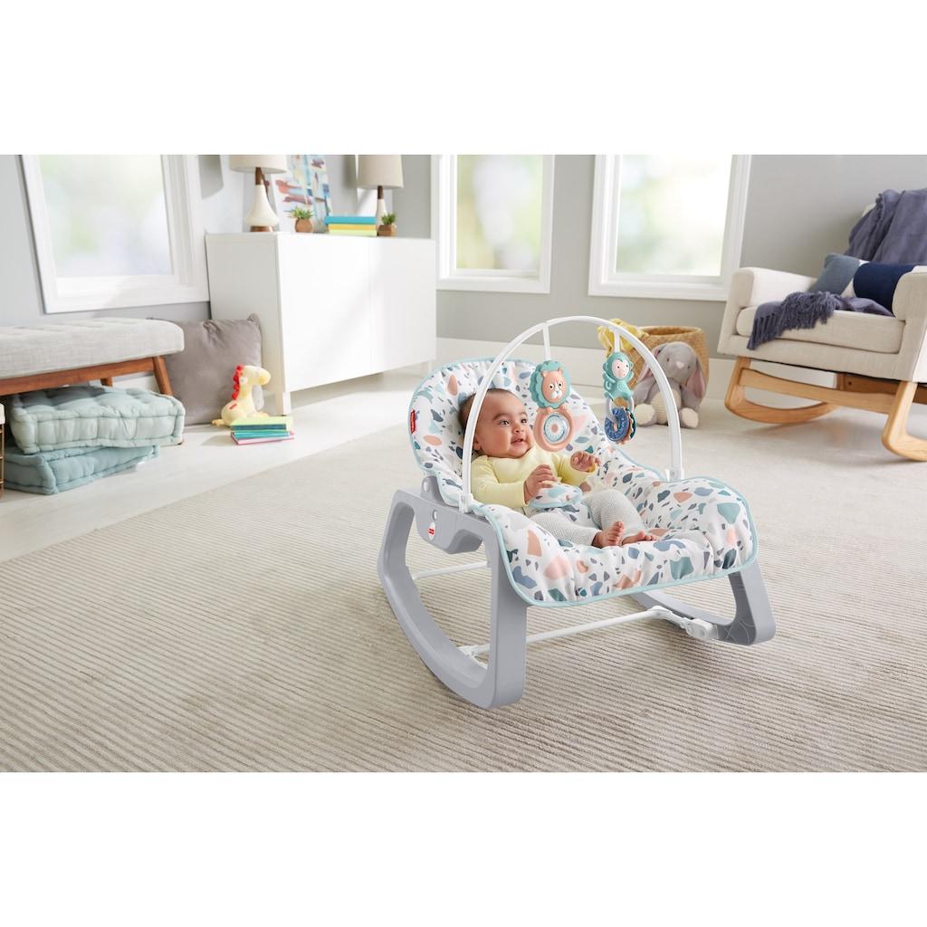 Fisher-Price® Babyschaukel »2in1 Baby Schaukelsitz«, bis 18 kg, mit Spielbogen und Wiegefunktion für Babys