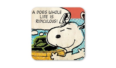 LOGOSHIRT Untersetzer mit lustigem Snoopy - Motiv kaufen
