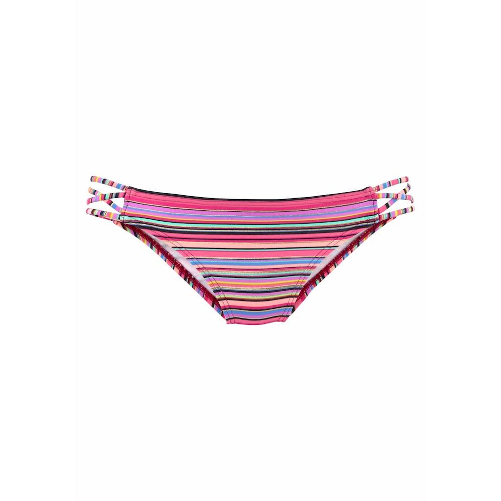 Homeboy Bikini-Hose »Kuba«, mit Glanzstreifen und seitlichen Bändern