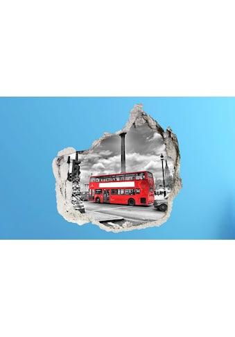 Conni Oberkircher´s Wandsticker »3 D Sticker Beton Red Bus« kaufen