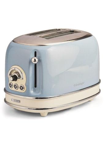 Ariete Toaster »Vintage«, 2 kurze Schlitze, für 2 Scheiben, 815 W, blau kaufen