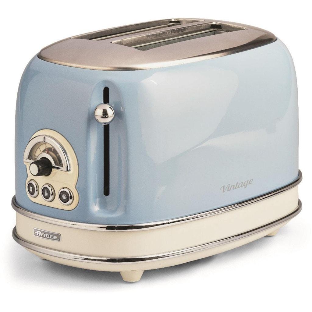 Ariete Toaster »Vintage«, 2 kurze Schlitze, für 2 Scheiben, 815 W, blau