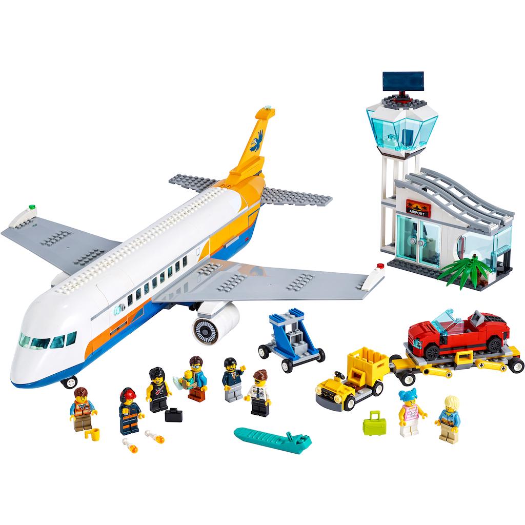 LEGO® Konstruktionsspielsteine »Passagierflugzeug (60262), LEGO® City«, (669 St.)