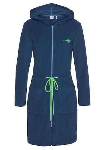 KangaROOS Damenbademantel »Kira«, mit Reißverschluss und Bindekordel kaufen