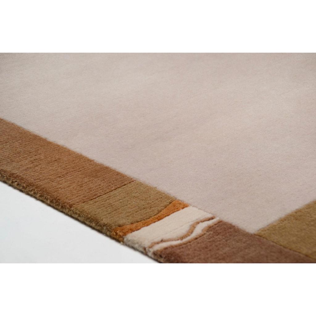 THEKO Läufer »Avanti«, rechteckig, 12 mm Höhe, Teppich-Läufer, reine Wolle, handgeknüpft, mit Bordüre