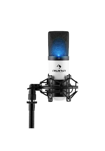 Auna LED USB Kondensator Mikrofon weiß Niere Studio »MIC - 900« kaufen
