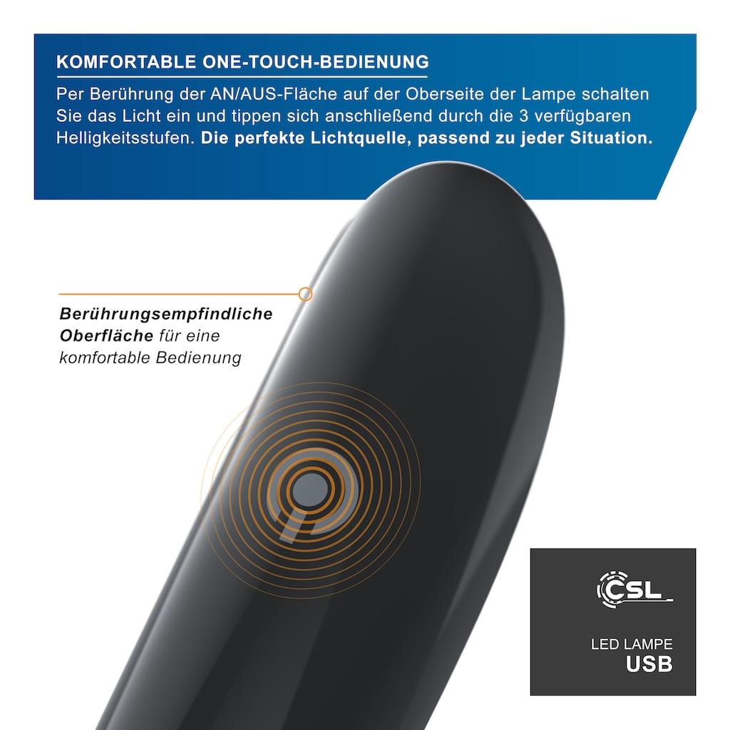 CSL LED Leselampe »Leselampe mit USB Anschluss«, flexibel mit Schwanenhals