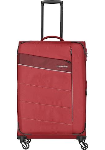 """travelite Weichgepäck - Trolley """"Kite rot, 75 cm"""", 4 Rollen kaufen"""