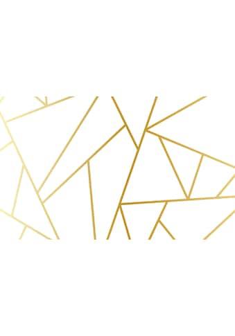 Consalnet Papiertapete »Geom. Figuren/Gold«, geometrisch kaufen
