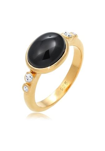 Elli Fingerring »Cocktailring Onyx Topas Edelsteine 925 Silber« kaufen