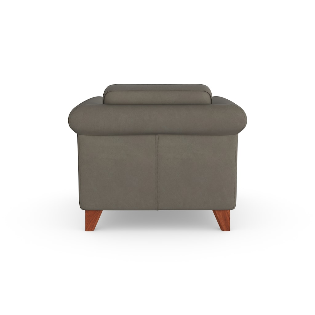machalke® Sessel »amadeo«, Ledersessel mit geschwungenen Armlehnen
