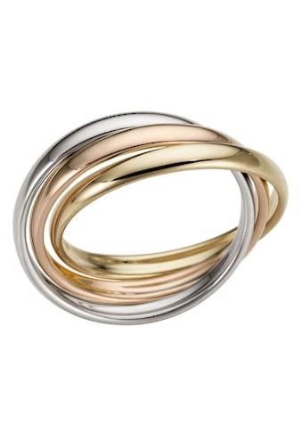 Firetti Goldring »3-Fach verschlungen, tricolor, Glanz, massiv« kaufen