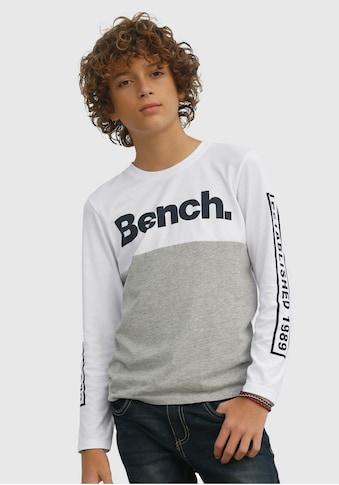 Bench. Langarmshirt, mehrfarbig und mit Drucken kaufen
