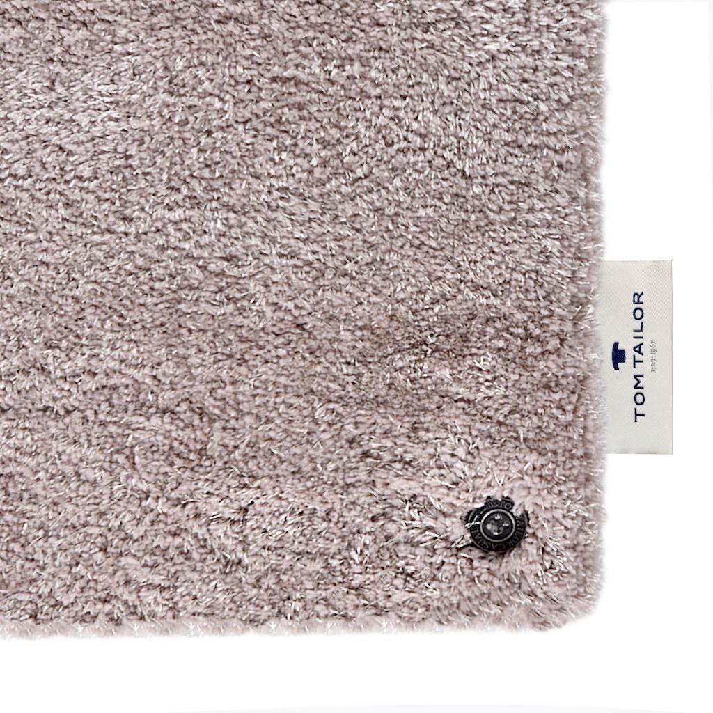 TOM TAILOR Hochflor-Teppich »Soft«, rechteckig, 35 mm Höhe, handgetuftet, super weich und flauschig, Wohnzimmer