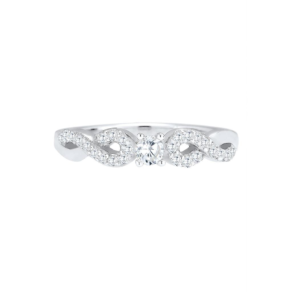 Elli Fingerring »Infinity Zirkonia 925 Sterling Silber«