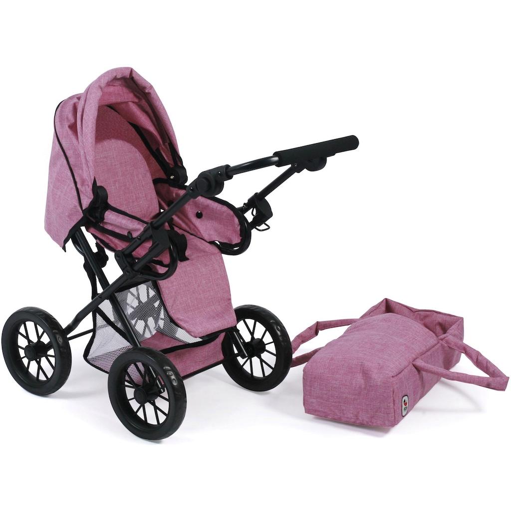 CHIC2000 Kombi-Puppenwagen »Leni, Jeans Pink«, mit herausnehmbarer Tragetasche