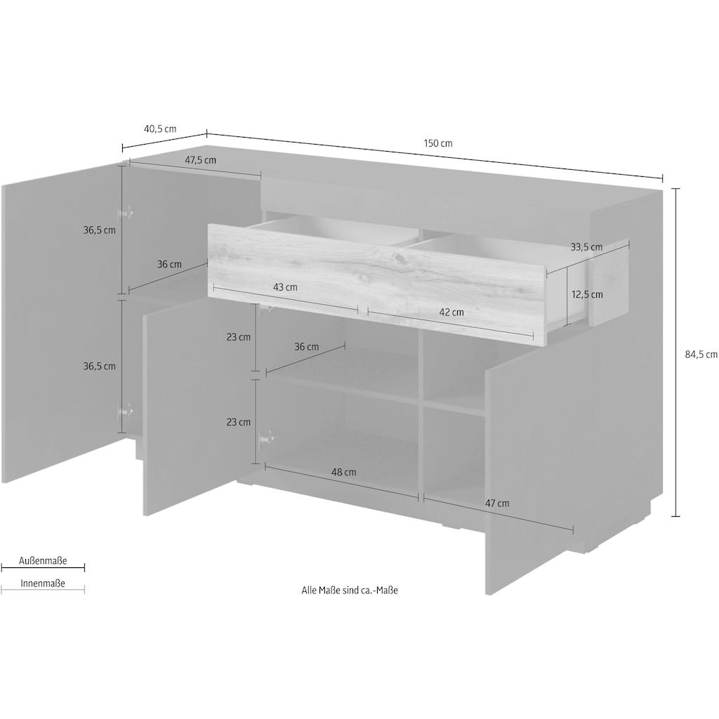Helvetia Sideboard »SILKE«, Breite 150 cm