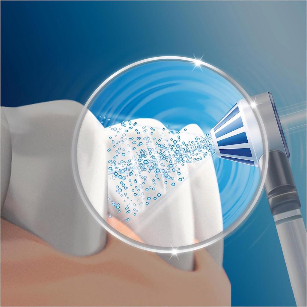 Oral B Munddusche »OxyJet«, 4 St. Aufsätze}, Mikro-Luftblasen-Technologie