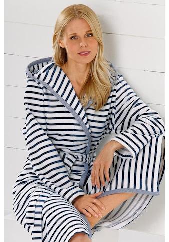 Cawö Damenbademantel »Hooge«, mit Streifen kaufen