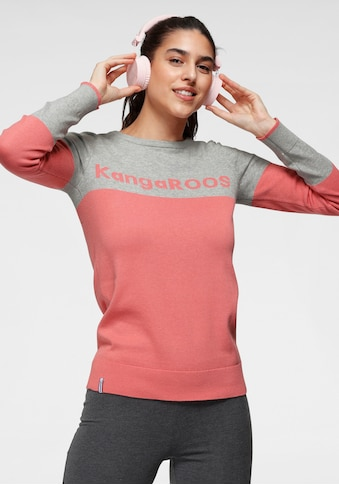 KangaROOS Rundhalspullover, mit Colour-Blocking und großem Logo-Schriftzug - NEUE... kaufen