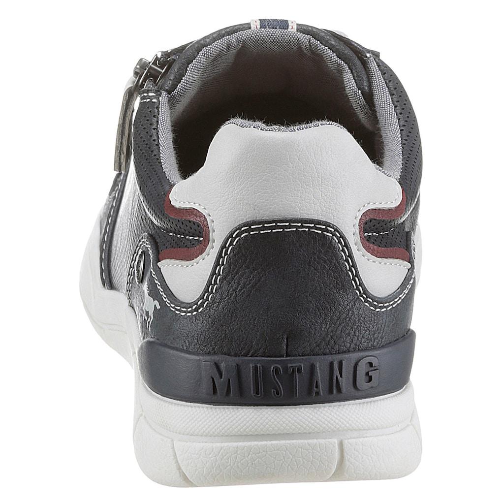 Mustang Shoes Schnürschuh, mit seitlichem Reißverschluss