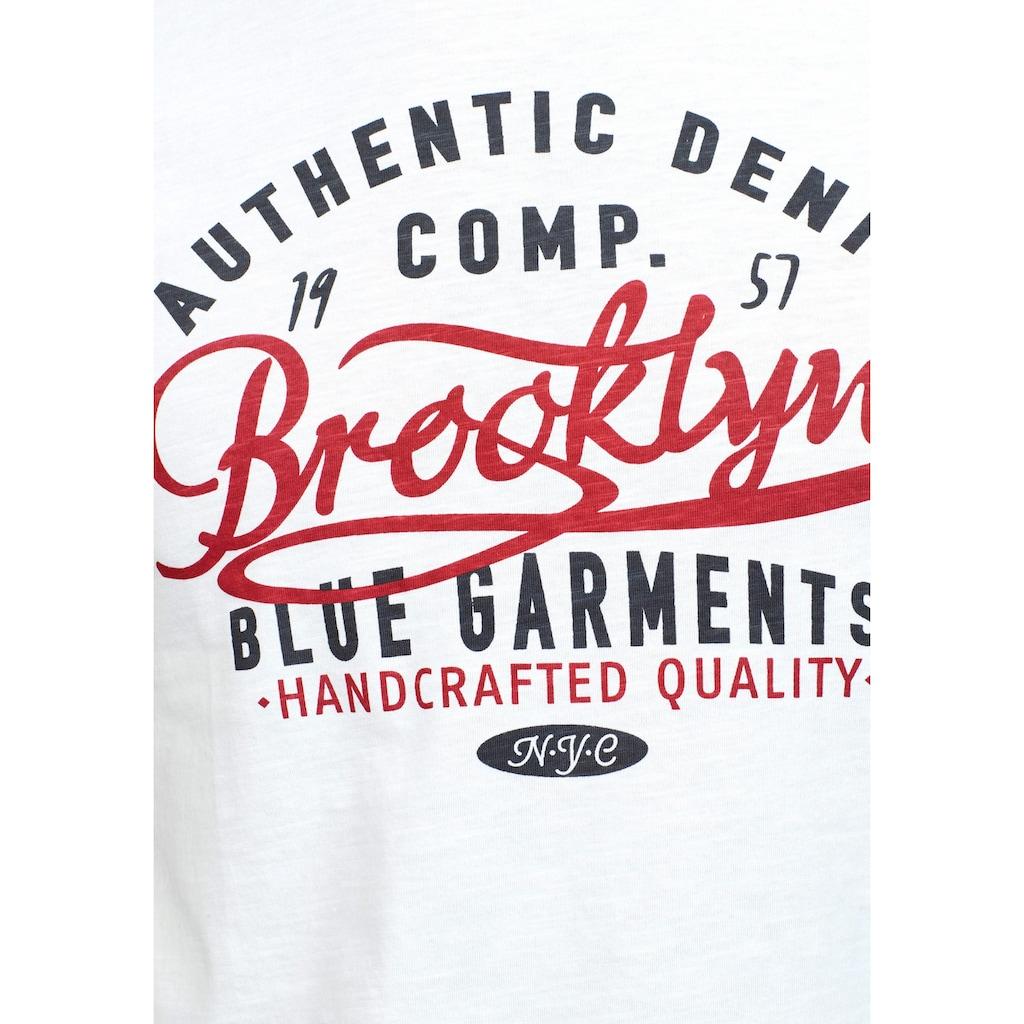 John Devin T-Shirt, mit Zwei-Farben-Print