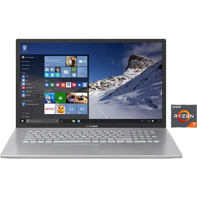 """Asus Notebook »S712DA-BX356T«, (43,94 cm/17,3 """" AMD Ryzen 7 Radeon RX Vega 10\r\n 512 GB SSD), Kostenloses Upgrade auf Windows 11, sobald verfügbar"""