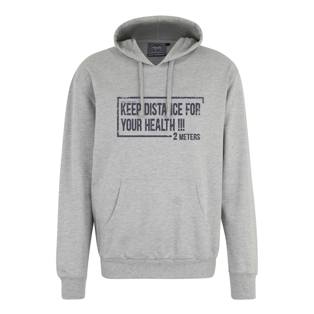 AHORN SPORTSWEAR Kapuzensweatshirt, mit coolem Frontprint