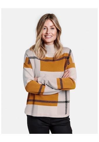 GERRY WEBER Rundhalspullover »Pullover mit abstraktem Karo« kaufen