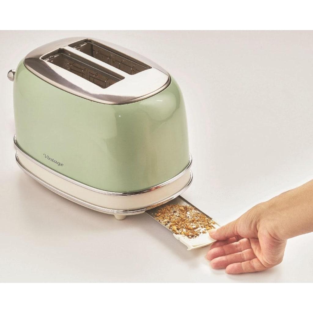 Ariete Toaster »Vintage«, 2 kurze Schlitze, für 2 Scheiben, 810 W