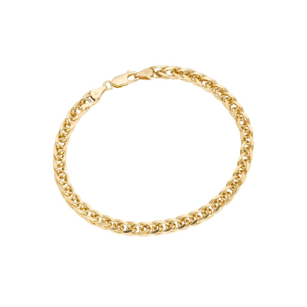 Firetti Goldarmband »in Zopfkettengliederung«, poliert