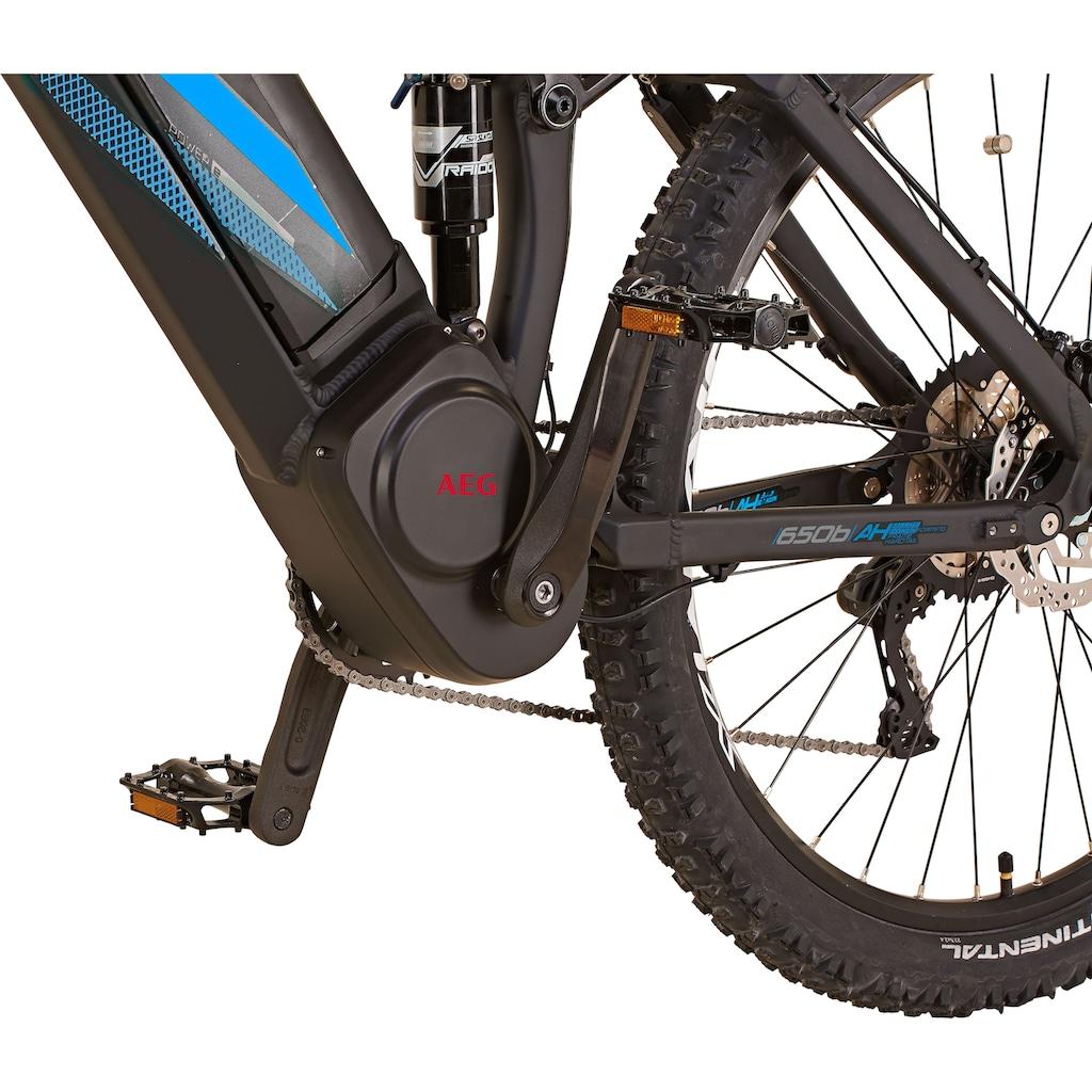 Prophete E-Bike »Graveler e8000«, 10 Gang, SHIMANO Deore XT, Mittelmotor 250 W, (Set), inkl. Dämpferpumpe