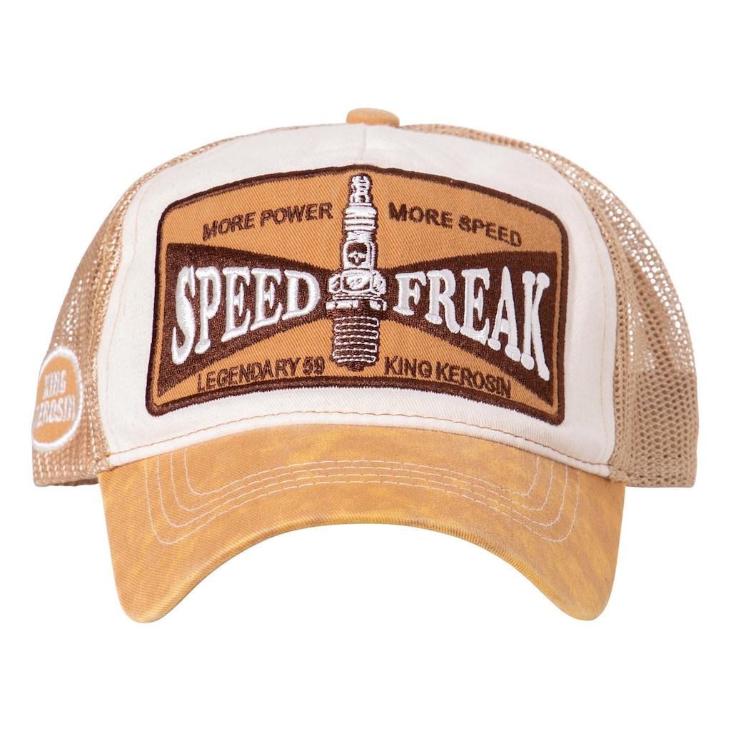 KingKerosin Trucker Cap »Speed Freak«, in Used-Optik